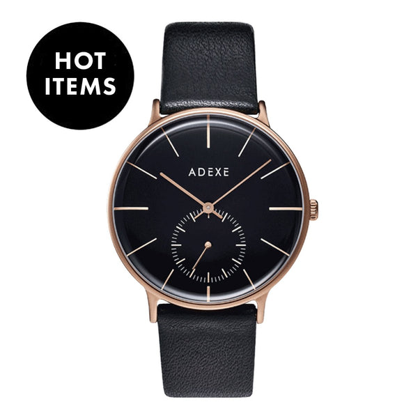 ADEXE-VD78 / Rose Gold / Black / Black-Watch-1868E-05-THE UNIT STORE