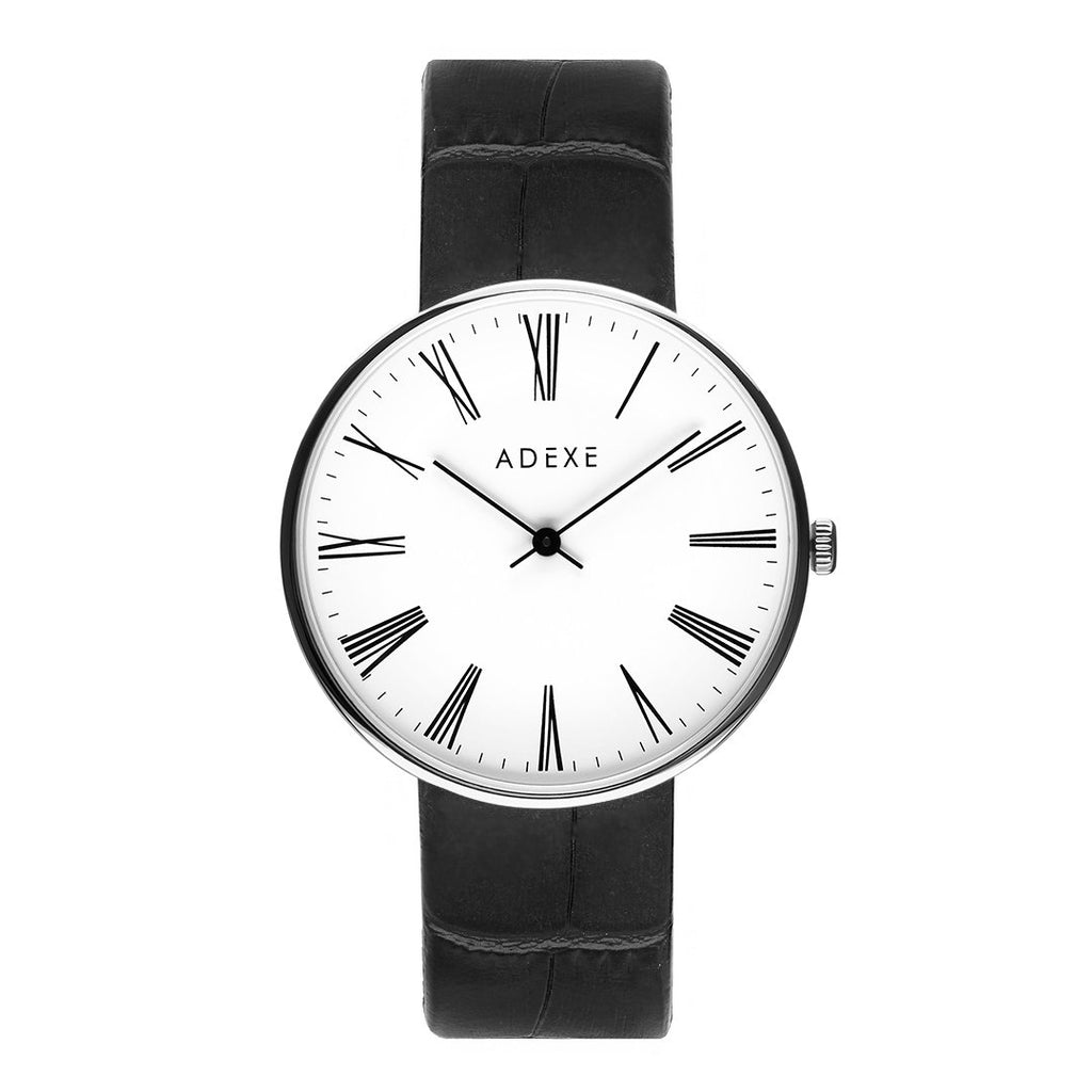 ADEXE-2025 / S.S / White / Black-Watch-1886A-01-THE UNIT STORE