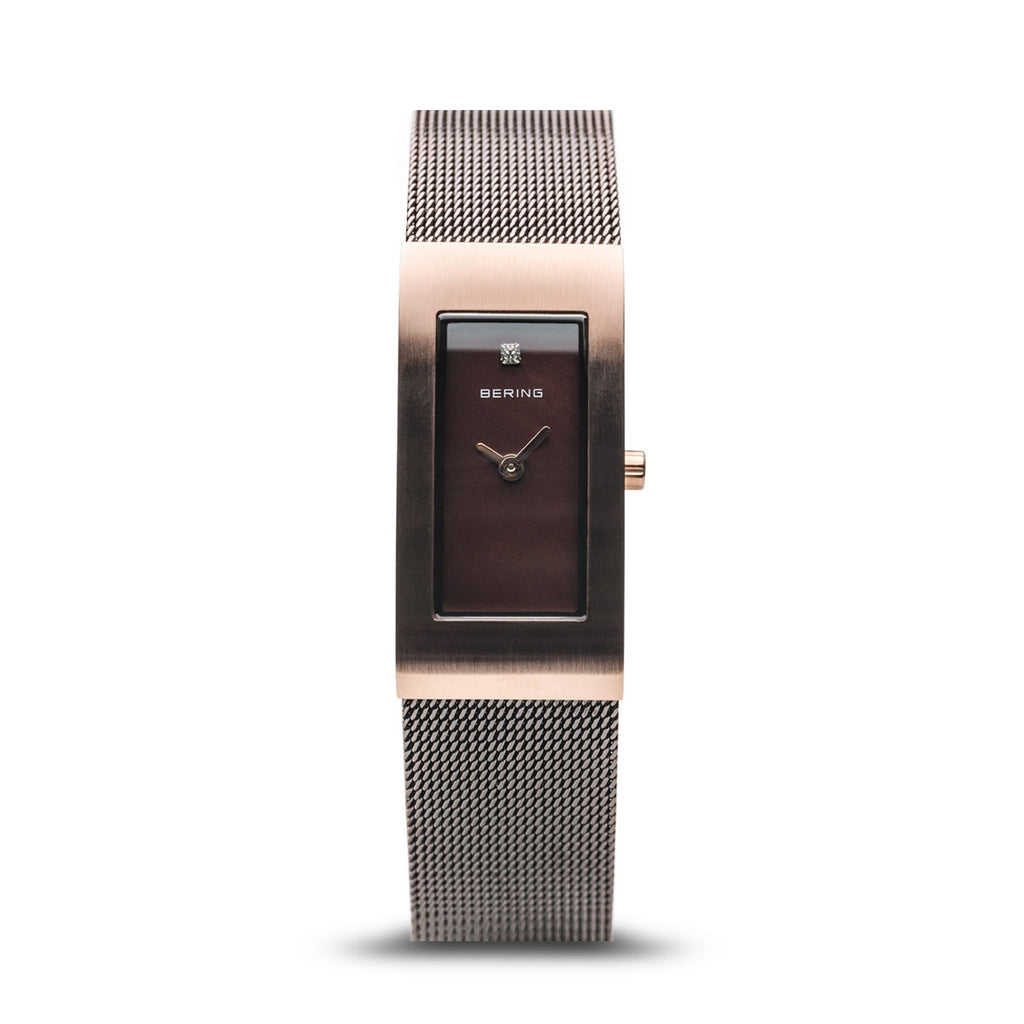 Bering-Classic/Brown/Rose Gold/Brown Mesh/17mm-Watch-10817-262-THE UNIT STORE