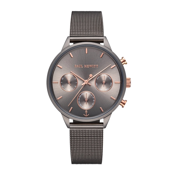 Watch Everpulse Line Grey Metallic Sunray Mesh