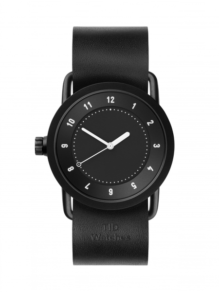 TID-No.1 36 Black/ Black Leather Wristband-Watch-10210101-THE UNIT STORE