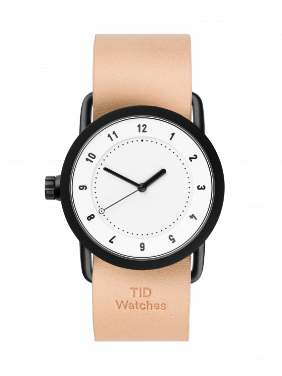 TID-No.1 36 White / Natural Leather Wristband-Watch-10200105-THE UNIT STORE