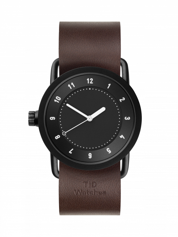 TID-No.1 36 Black / Walnut Leather Wristband-Watch-10210103-THE UNIT STORE