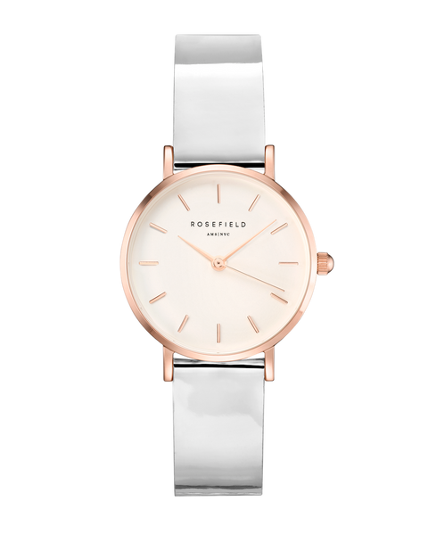 Rosefield-Premium Gloss White Metallic Rosegold 26mm-Watch-RF-SHMWR-H30-THE UNIT STORE