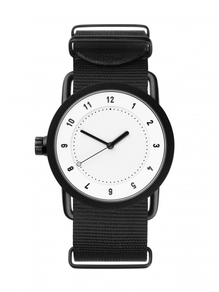 TID-No.1 36 White / Black Nylon Wristband-Watch-10200121-THE UNIT STORE