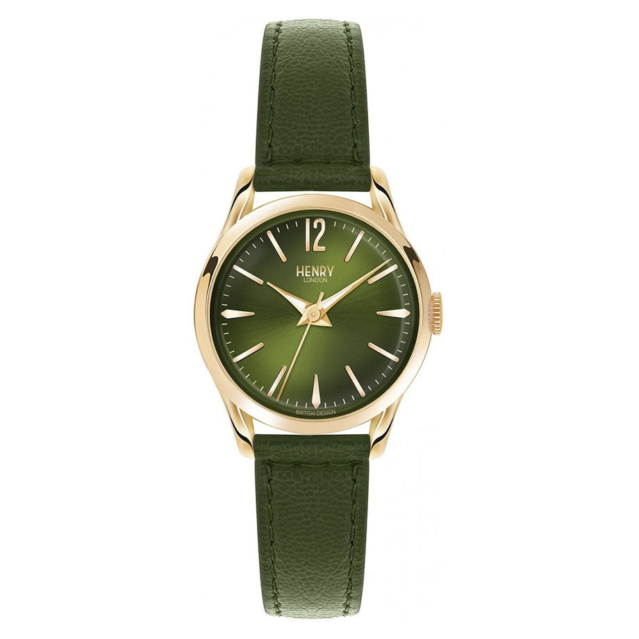 HENRY LONDON-Chiswick - 39mm analogue (Moss GRN dial) strap-Watch-HL39-S-0100-THE UNIT STORE