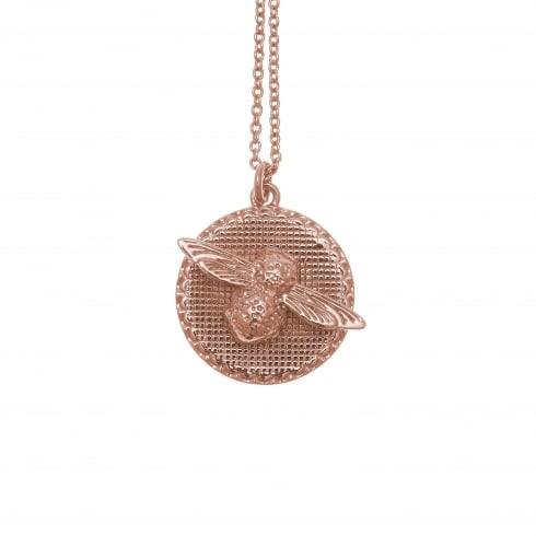 OLIVIA BURTON-Animal Motif Bee And Coin Necklace Rose Gold-Jewellery-OBJ16AMN09-THE UNIT STORE