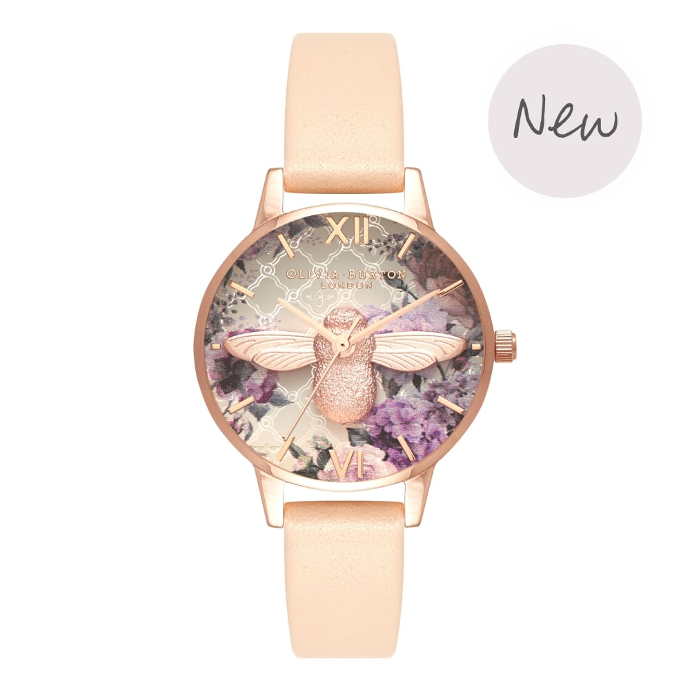 OLIVIA BURTON-Glasshouse Nude Peach & Rose Gold-Watch-OB16EG98-THE UNIT STORE