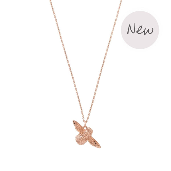 3D Bee Pendant Necklace Rose Gold__OLIVIA BURTON_Jewellery_THE UNIT STORE