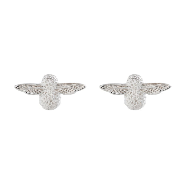 OLIVIA BURTON-3D Bee Studs Earring Silver-Jewellery-OBJ16AME24-THE UNIT STORE