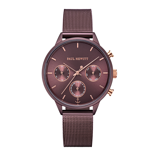 Watch Everpulse Line Dark Mauve Sunray IP Mesh