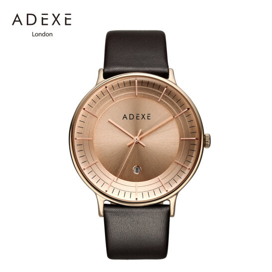 ADEXE-GM10 / IP Pink RG / R.Gold Sunray / D.Brown-Watch-1868G-04-THE UNIT STORE