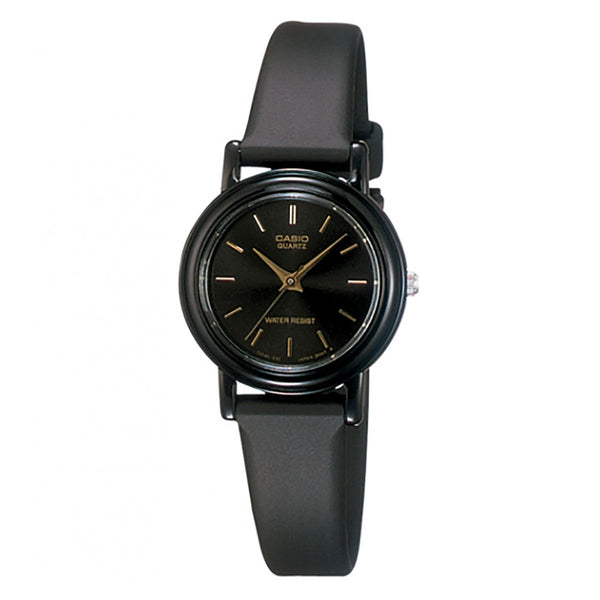 Analog - Ladies' / Black Dial Black / Black Resin