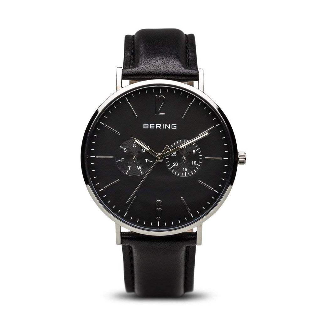 Bering-Classic/Black/Silver/Black Leather/40mm-Watch-14240-402-THE UNIT STORE