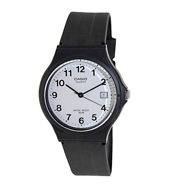 Analog - Men's / White Dial Black / Black Band