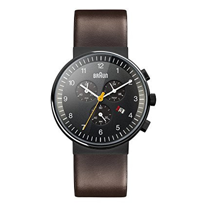 Braun-BN0035 Black Dial 40mm Brown Strap Gent-Watch-BN0035BKBRG-THE UNIT STORE