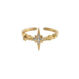 Wanderlust + Co-Wishing Star Gold Ring-Jewellery-W-R579G-THE UNIT STORE