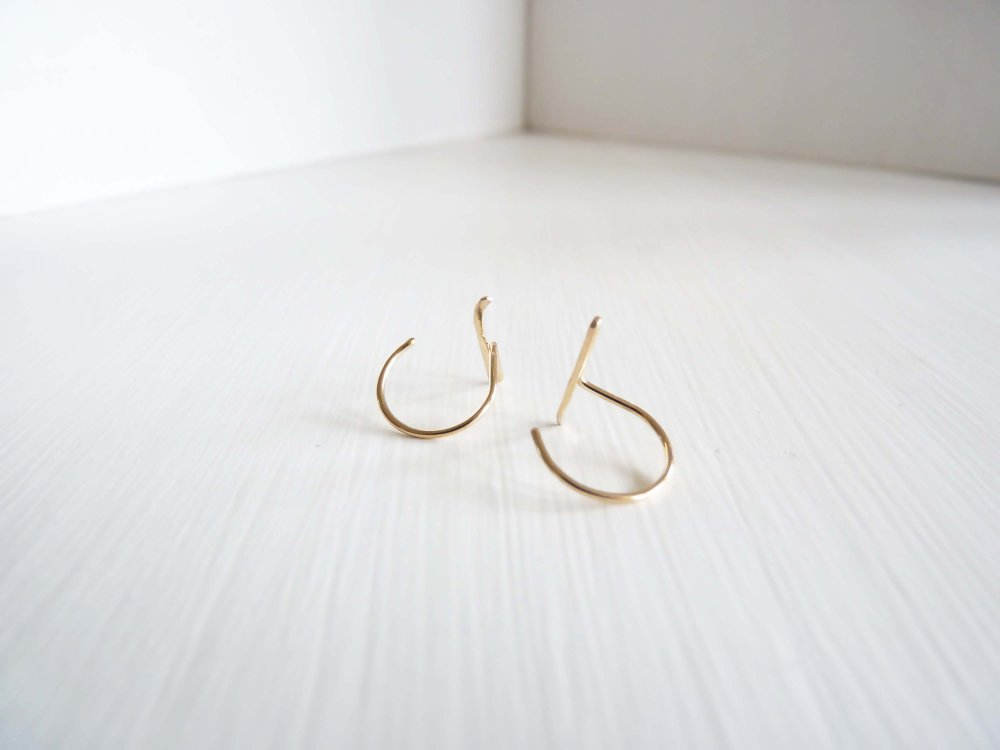 Cinq-Anchor Earrings Gold-Jewellery-CI AC EAR GD-THE UNIT STORE