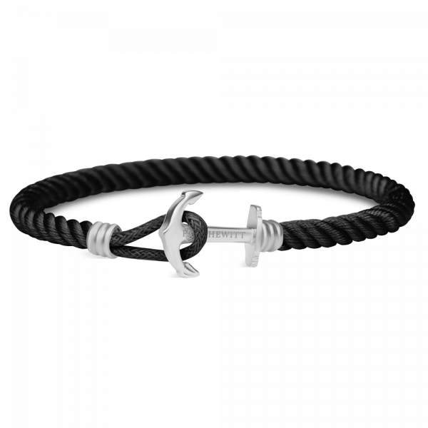 Paul Hewitt-Anchor PHREP Lite Stainless Steel Nylon Black-Jewellery-THE UNIT STORE