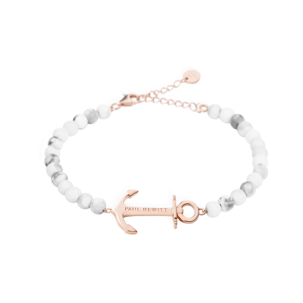 Paul Hewitt-Bracelet Anchor Spirit Marble IP Rose Gold-Jewellery-PH-ABB-R-M-THE UNIT STORE