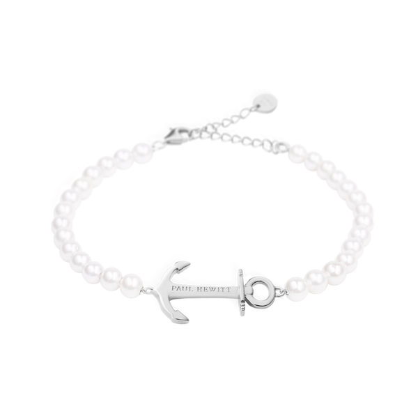 Paul Hewitt-Bracelet Anchor Spirit Pearl Stainless Steel OS-Jewellery-PH-ABB-S-P-THE UNIT STORE