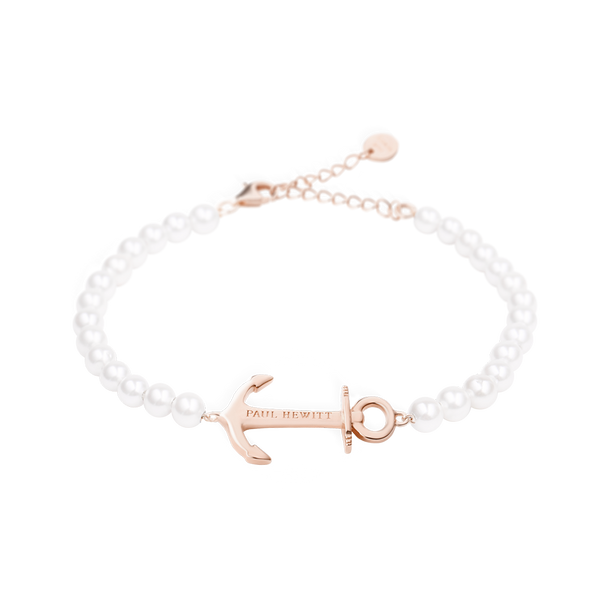 Paul Hewitt-Bracelet Anchor Spirit Pearl IP Rose Gold-Jewellery-PH-ABB-R-P-THE UNIT STORE
