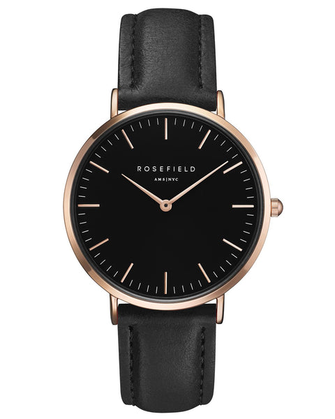 Rosefield-The Bowery Black Black Rose Gold-Watch-RF-BBBR-B11-THE UNIT STORE