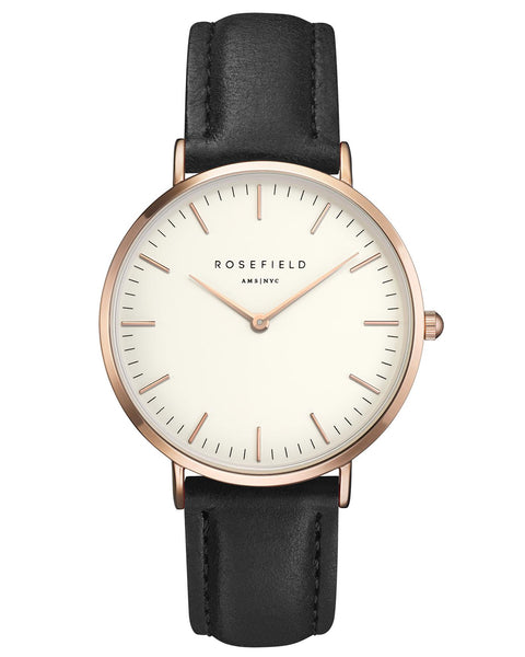 Rosefield-The Bowery White Black Rose Gold-Watch-RF-BWBLR-B1-THE UNIT STORE
