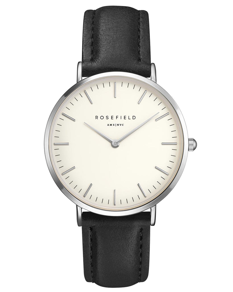Rosefield-The Bowery White Black Silver-Watch-RF-BWBLS-B2-THE UNIT STORE