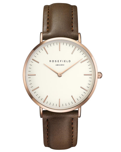 Rosefield-The Bowery White Brown Rose Gold-Watch-RF-BWBRR-B3-THE UNIT STORE