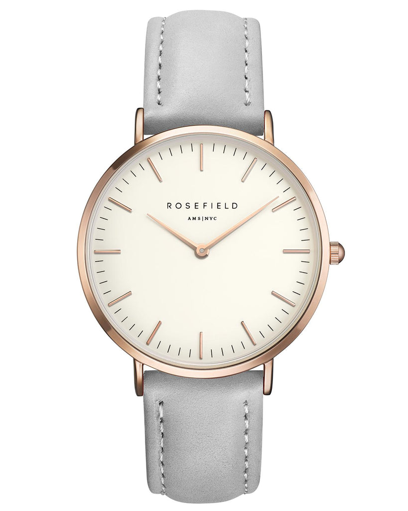 Rosefield-The Bowery White Grey Rose Gold-Watch-RF-BWGR-B9-THE UNIT STORE