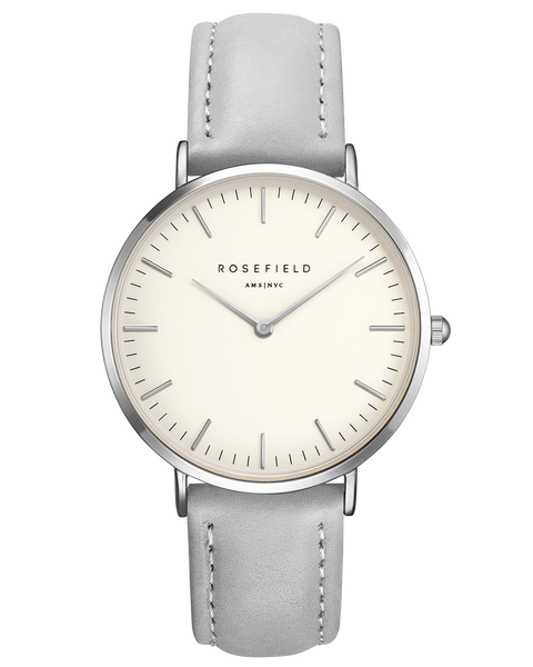 Rosefield-The Bowery White Grey Silver-Watch-RF-BWGS-B10-THE UNIT STORE
