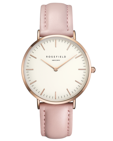 Rosefield-The Bowery White Pink Rose Gold-Watch-RF-BWPR-B7-THE UNIT STORE