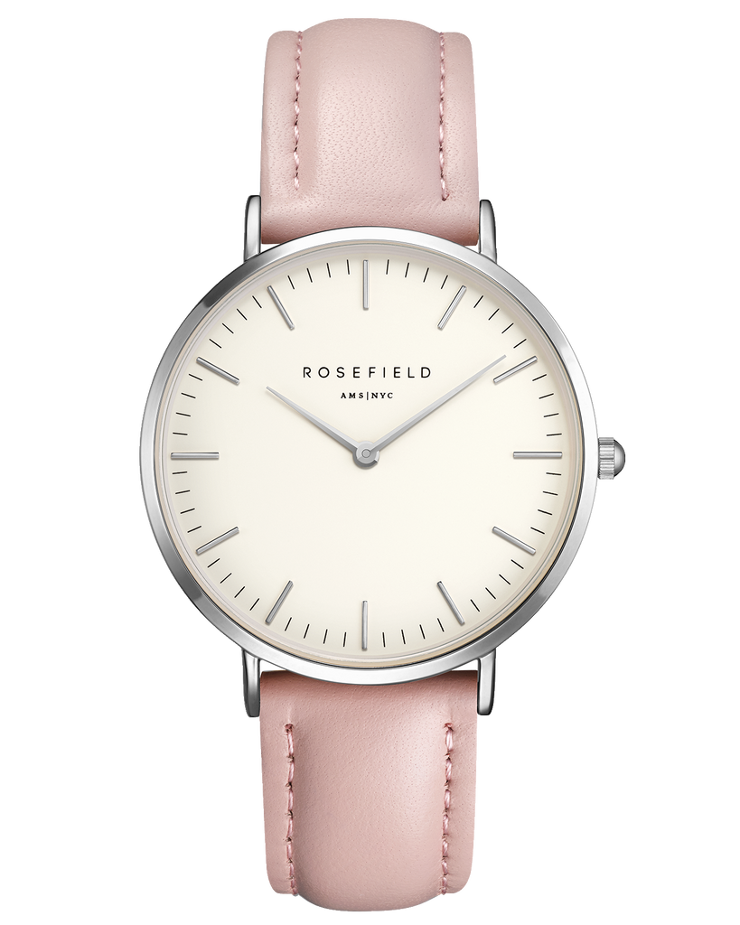 Rosefield-The Bowery White Pink Silver-Watch-RF-BWPS-B8-THE UNIT STORE