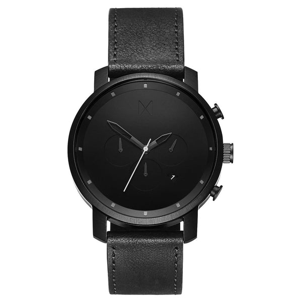 MVMT-Mens Chrono Black Leather 45 mm-Watch-D-MC01BL-THE UNIT STORE