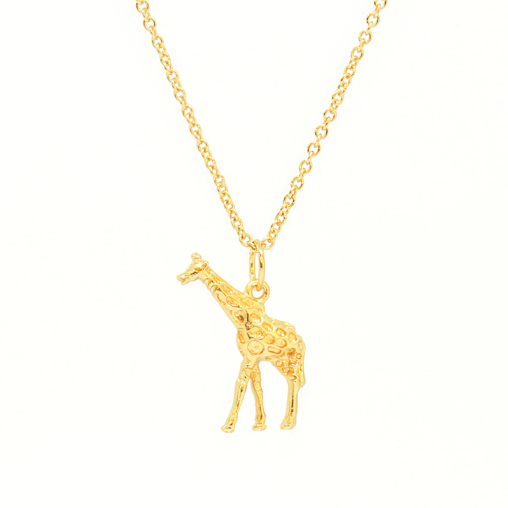 Cirque Poesie-3D Giraffe Necklace Gold-Jewellery-CP-NL-GIR-G-00-THE UNIT STORE