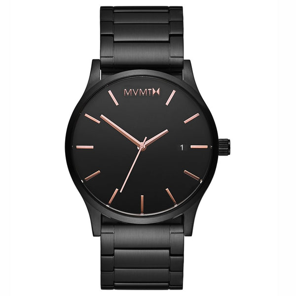 MVMT-Mens Classic Black Rose 45 mm-Watch-D-MM01-BBRG-THE UNIT STORE