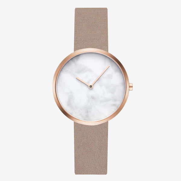 Maven Cosmopolitan White/Rose Gold/Camel Leather/34mm WU MV1002LRGPWCL