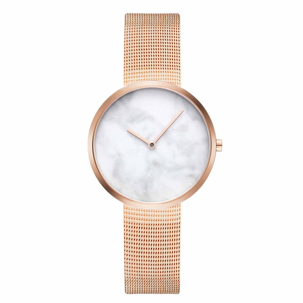 Maven-Cosmopolitan White/Rose Gold/Rose Gold Mesh/34mm-Watch-WU MV1002LRGPWM-THE UNIT STORE
