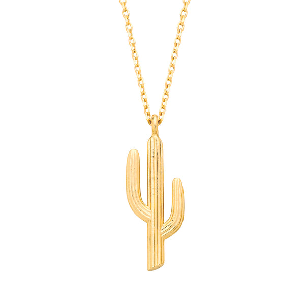 Cactus Necklace Gold Plated