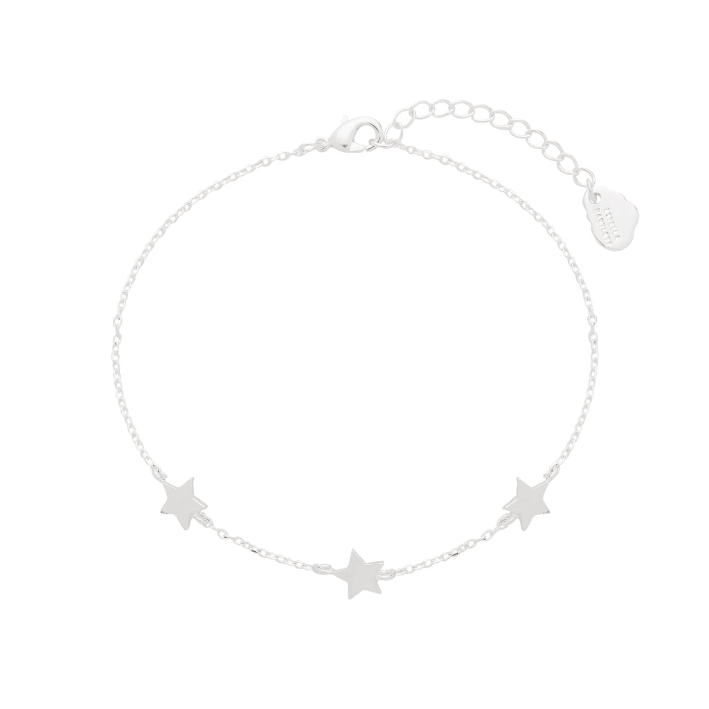 Estella Bartlett-3X Star Bracelet Silver Plated-Jewellery-EB1965C-THE UNIT STORE
