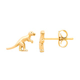 Estella Bartlett-Dinosaur Stud Earrings Gold Plated-Jewellery-EB1988-THE UNIT STORE