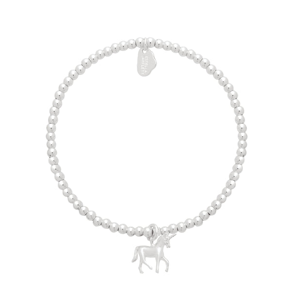Estella Bartlett-Sienna Bracelet with Unicorn Silver Plated-Jewellery-EB2017C-THE UNIT STORE