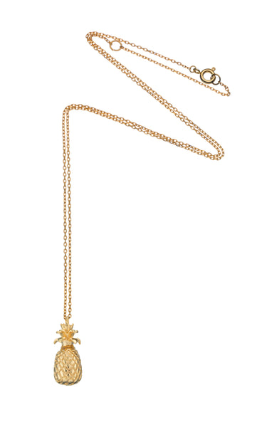 Pineapple Necklace Gold Plated