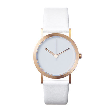 Normal Timepieces-Pink Gold Finish / White Leather-Watch-EN10-L18W3-THE UNIT STORE
