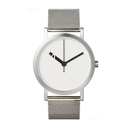 Normal Timepieces-White Face / Silver Mesh Band-Watch-EN21-M20SS-THE UNIT STORE