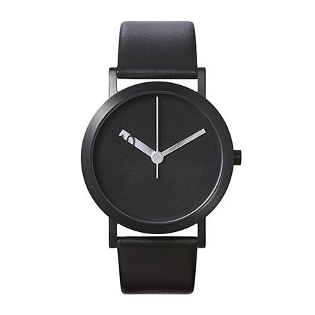 Normal Timepieces-All Black / Black Leather-Watch-EN23-L20BL-THE UNIT STORE