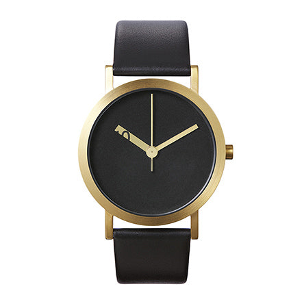 Normal Timepieces-Black Face / Amber Hands-Watch-EN24-L20BL-THE UNIT STORE