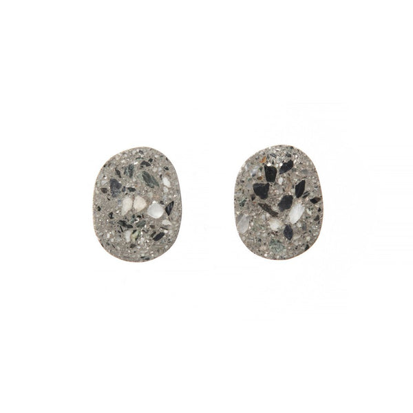 22 Design Studio-Pebble Earring Original Grey Concrete-Jewellery-TE02000-THE UNIT STORE
