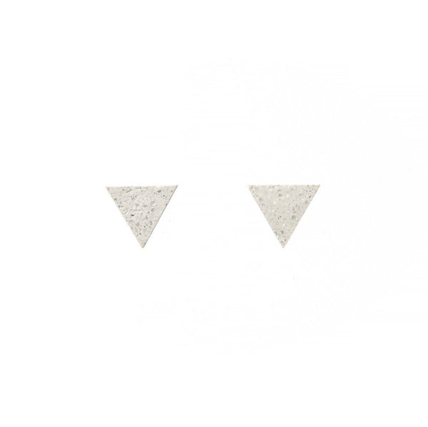 22 Design Studio-Tetrahedron Earring White Concrete-Jewellery-CE02002-THE UNIT STORE